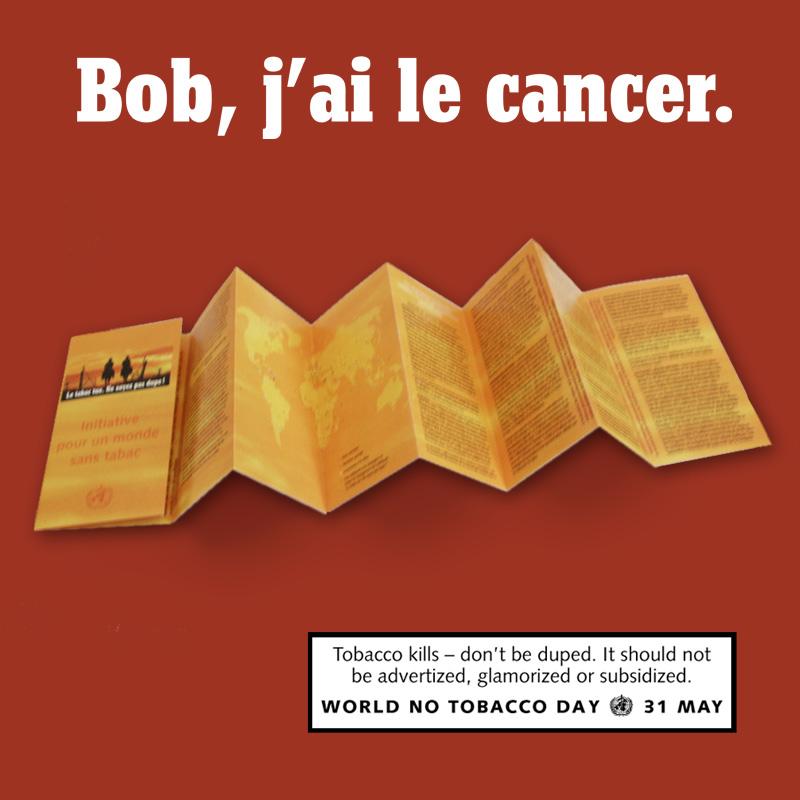 Bob, j'ai le cancer | Depliant