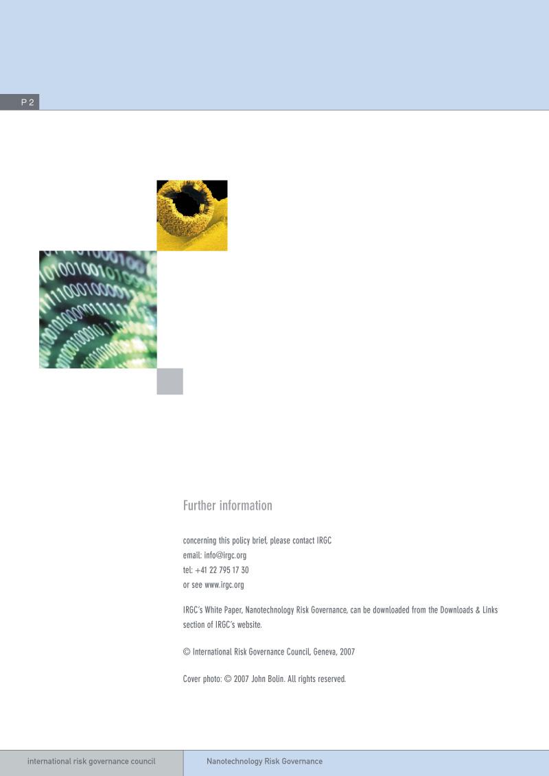IRGC | Brochure design