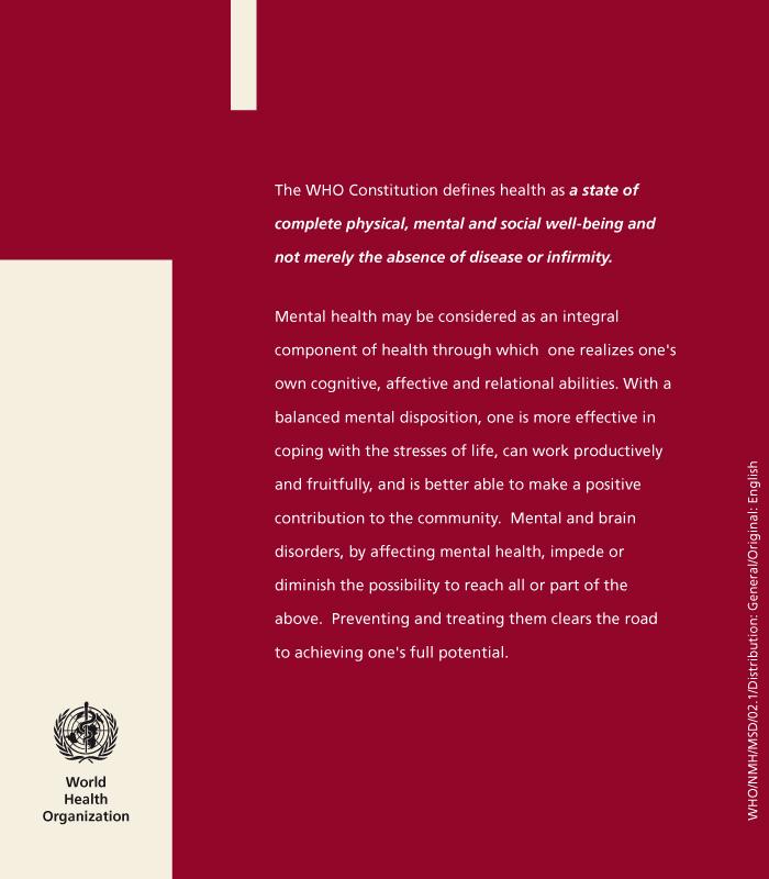 mhGAP | Brochure design