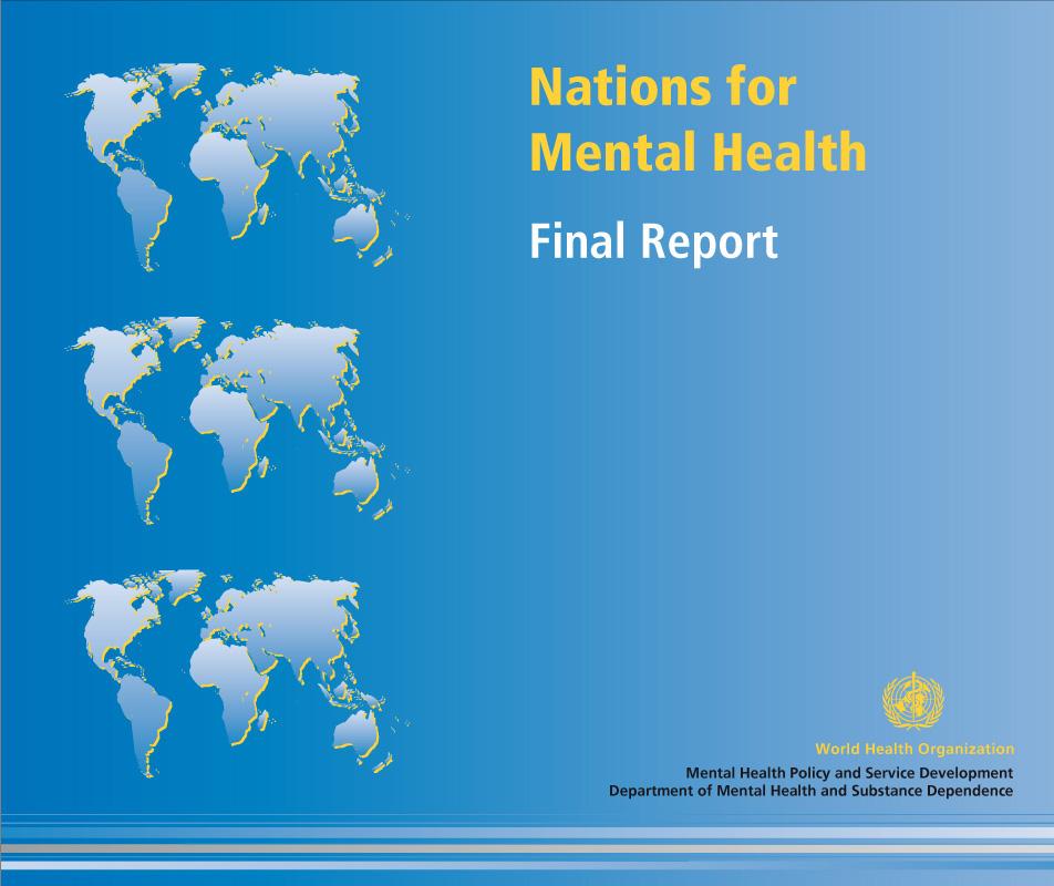 Nations for mental health | Couverture de brochure