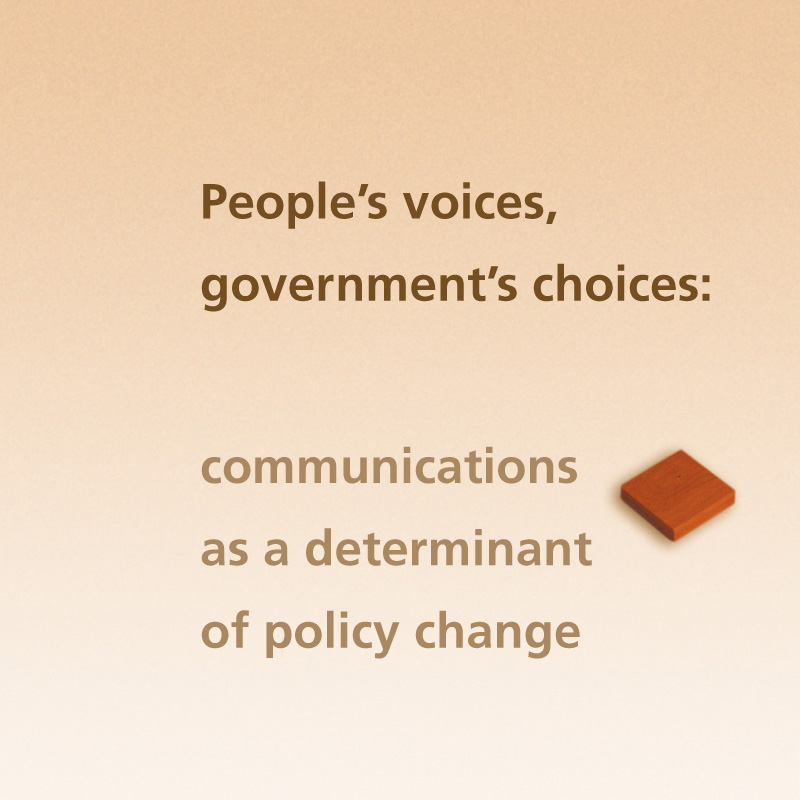 Communications and policy change | Brochure