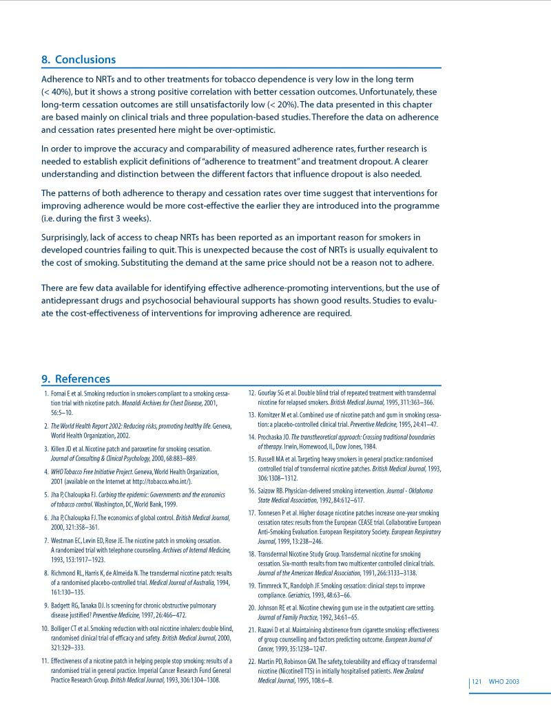 OMS | Adherence | Création de Brochure p 134