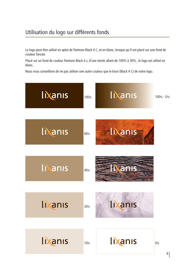 Lixanis | Charte graphique p6
