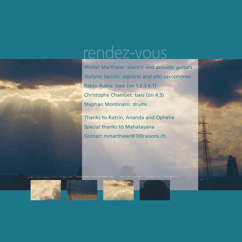 Couverture CD Rendez-vous | Page du livret