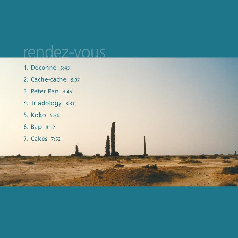 Couverture CD Rendez-vous | Dos du livret