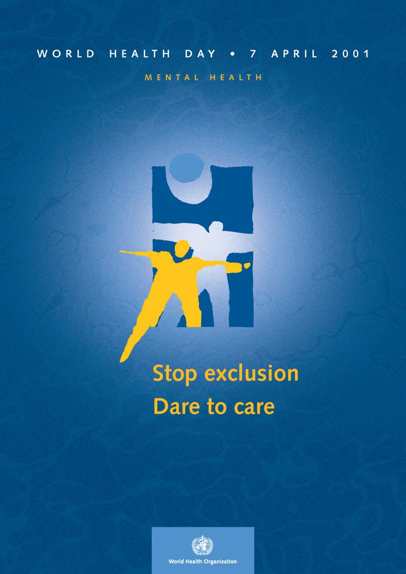 MH | Non à l'exclusion, oui aux soins | Poster
