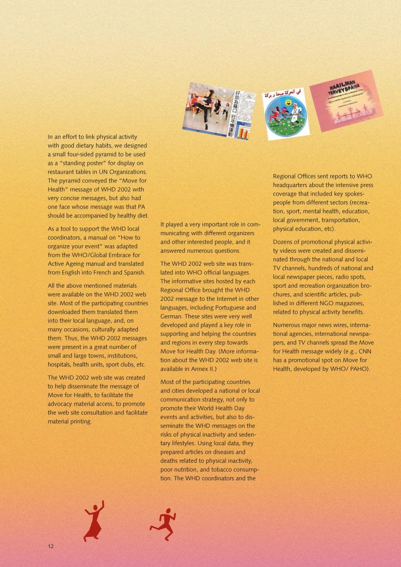 Pour la santé bougez | Rapport p 14