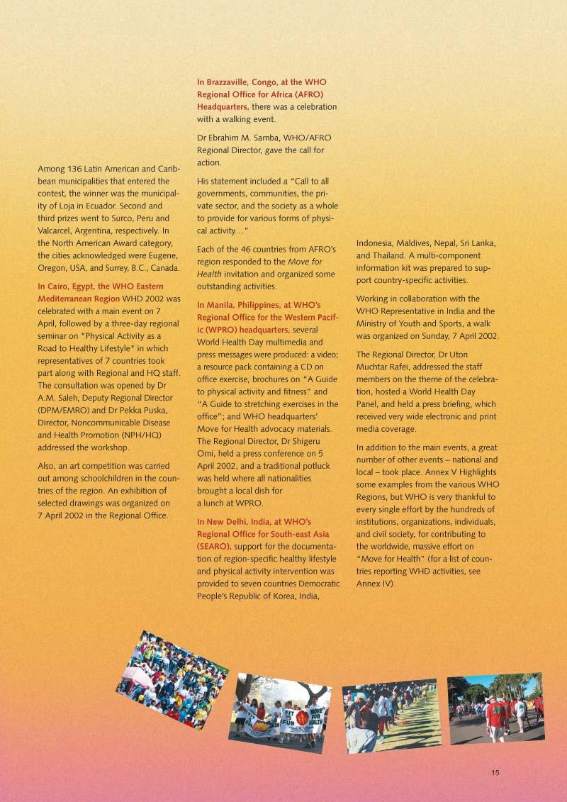 Pour la santé bougez | Rapport p 17