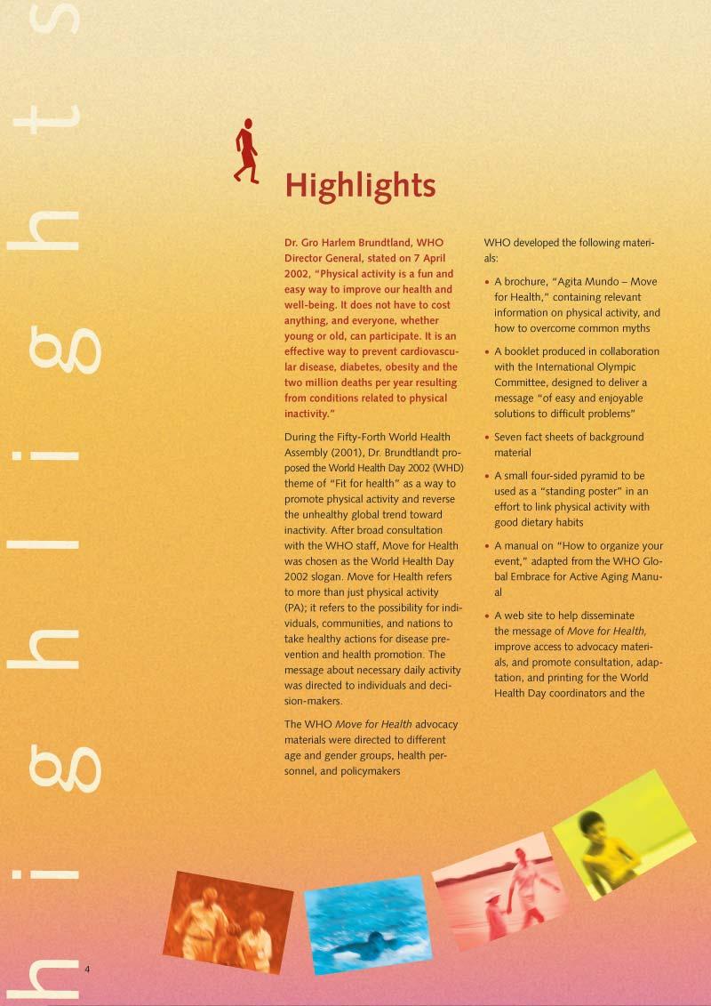 Pour la santé bougez | Rapport p 6