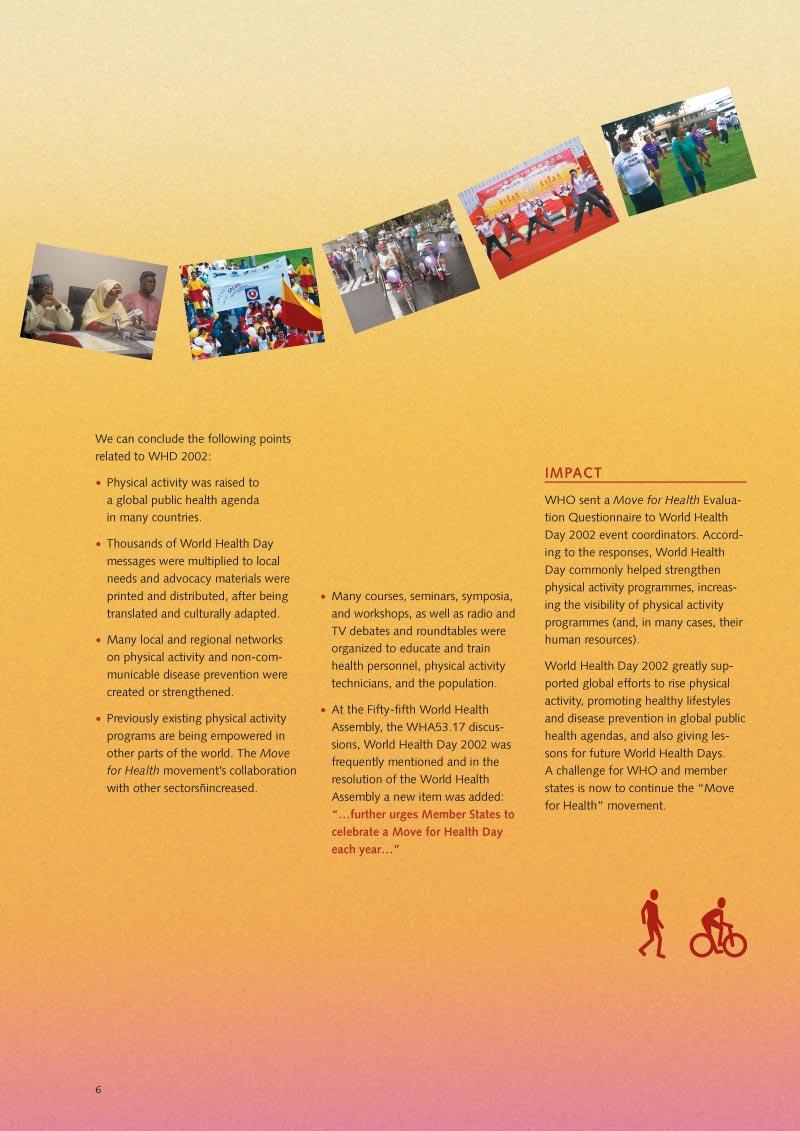 Pour la santé bougez | Rapport p 8